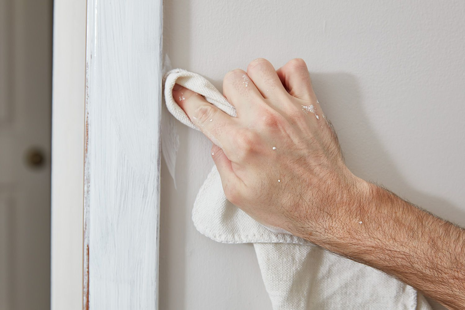 Use slightly damp rag to clean any paint mistakes