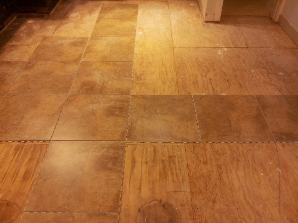Installing Snapstone Kitchen Floor Tile for our Home Remodel