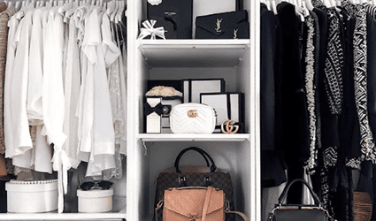 a well designed closet