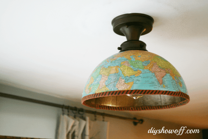 pantalla de luz de globo de bricolaje