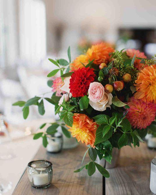 Centro de mesa para bodas de otoño DIY