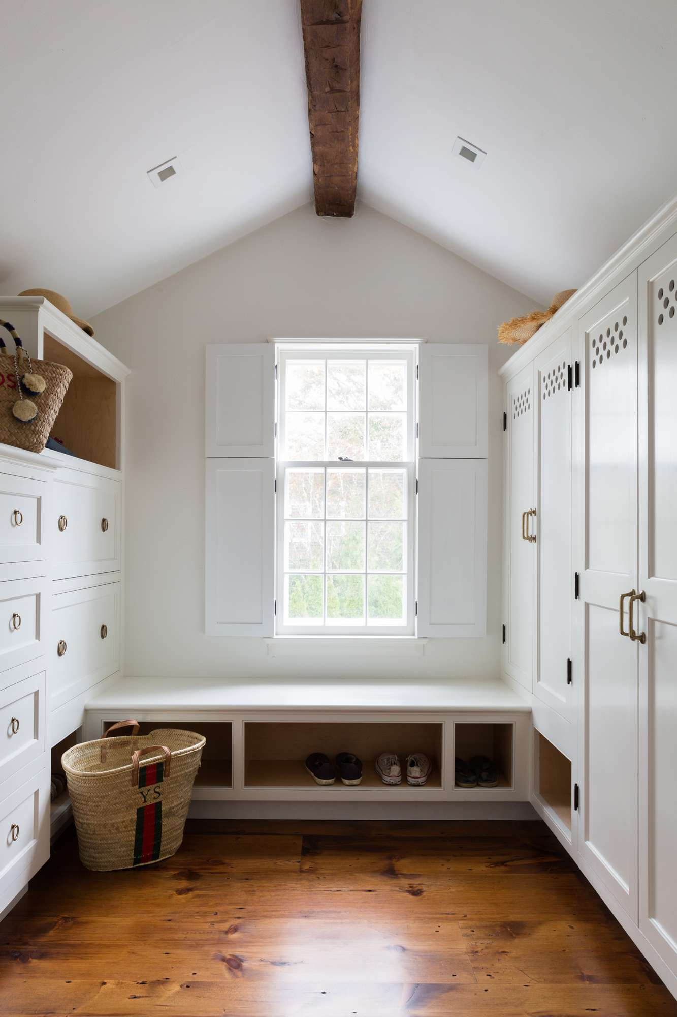 mudroom in small cottage