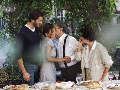 Proud Italian son introduces his fiancé to his parents