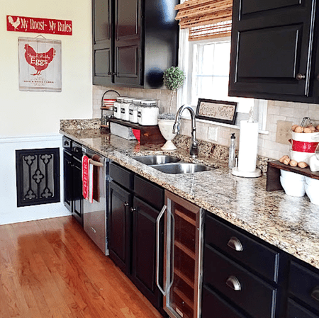 Black Milk Painted Kitchen Cabinets