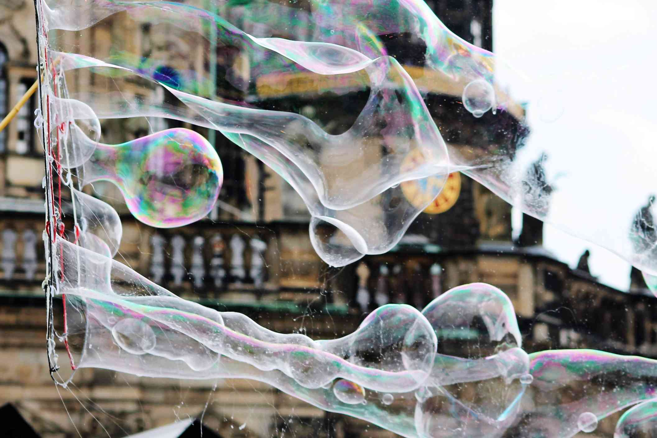 Close-Up Of Bubbles In City