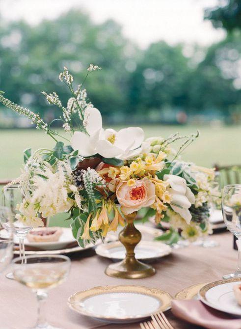 Centro de mesa para bodas Magnolia Spring