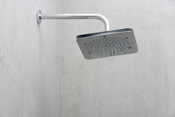 Close-up of a shower in the bathroom
