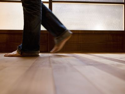 Walking on Wood Floor