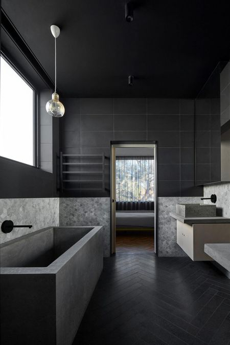 15 beautiful black bathrooms