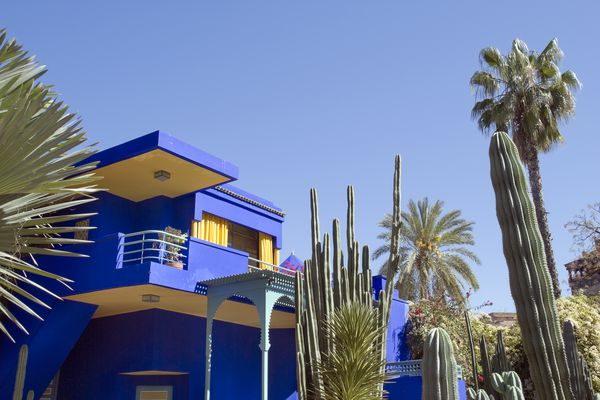 Colorful marine blue house