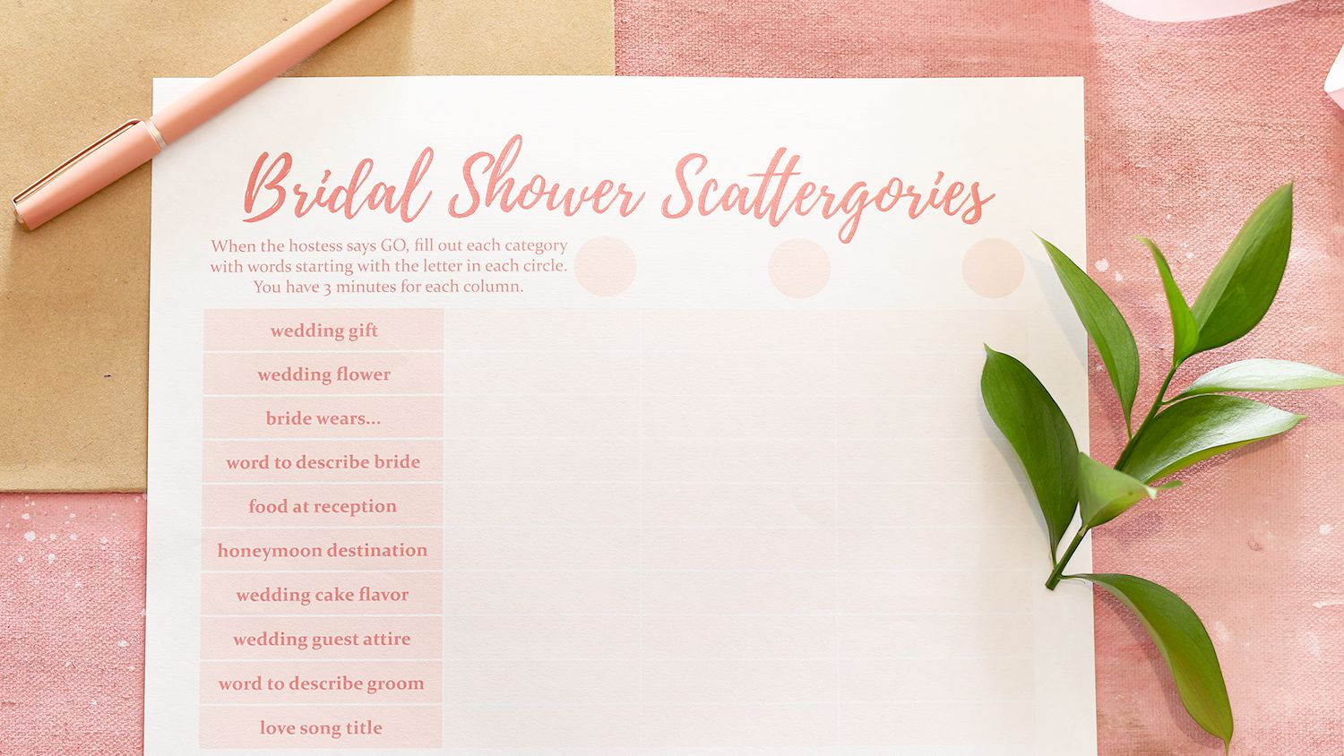 9 Free Bridal Shower Games With Free Printables
