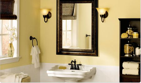 Warm Formal Bathroom Paint Colors For A Bungalow Look