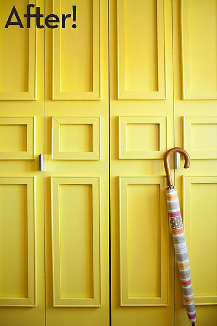DIY Closet Door Decorating Ideas and Photos
