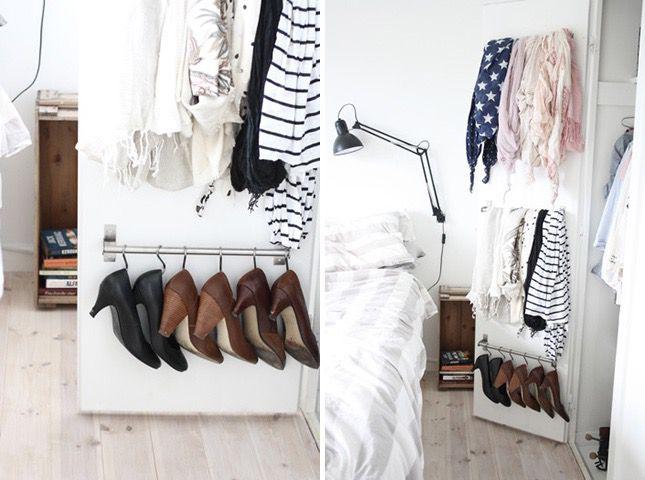 Shoes on the closet door