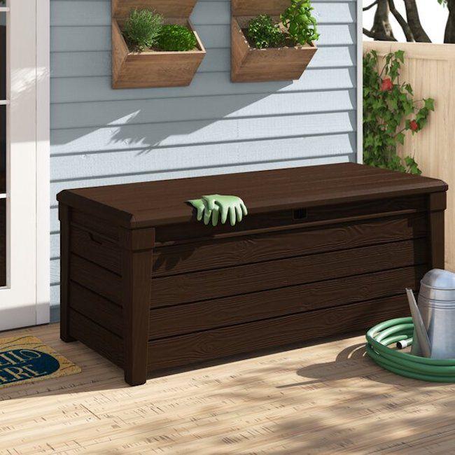 Keter Brightwood 120-Gallon Resin Deck Box