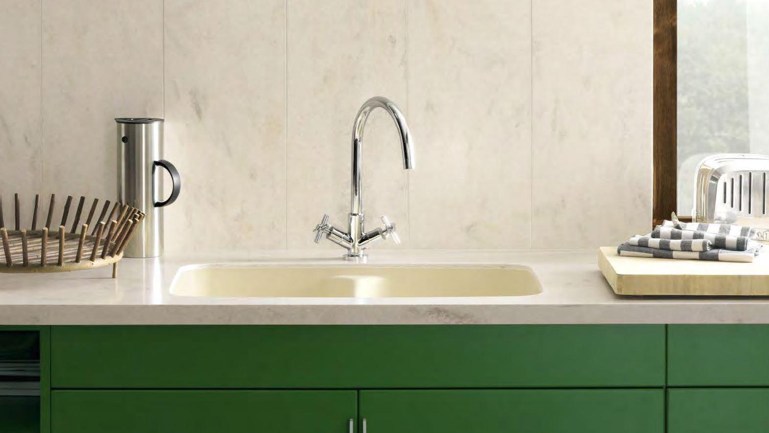 Corian integrated kitchen sink