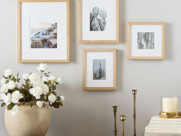 Simple White Frame Picture frame Vintage Style Photo Frame Art Frame Custom White Frame
