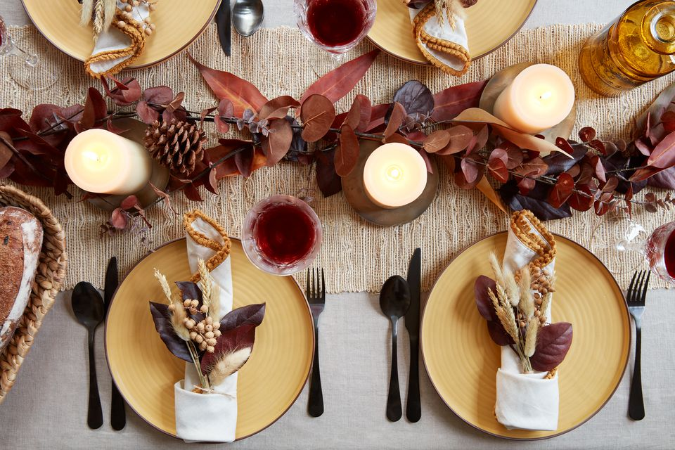 Fall-themed tablescape