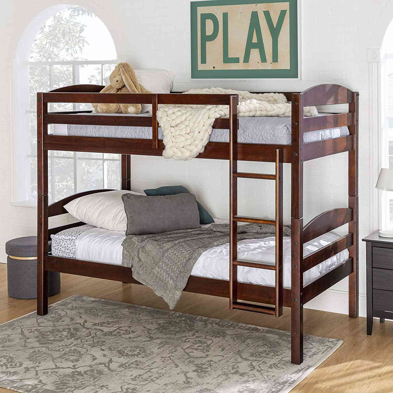 Walker Edison Solid Wood Twin Bunk Bed