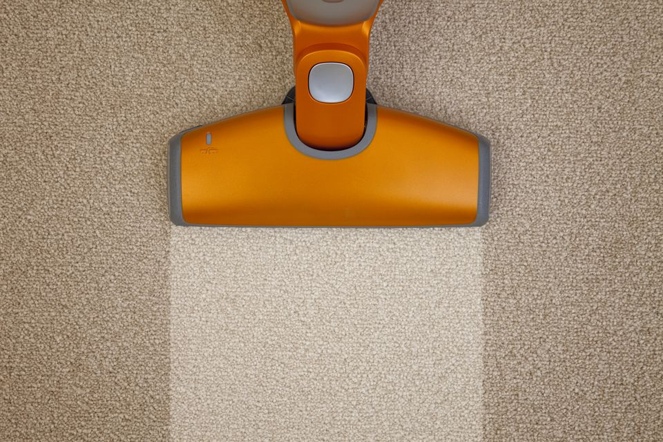 Vacuum cleaning carpet