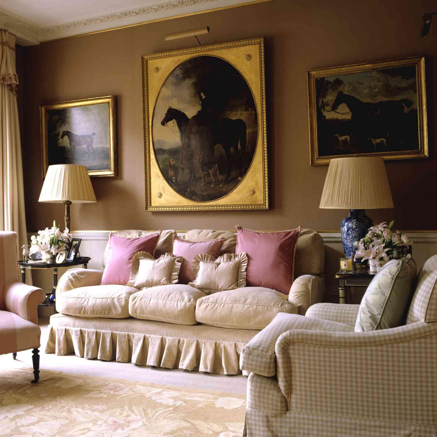 Cozy brown living room