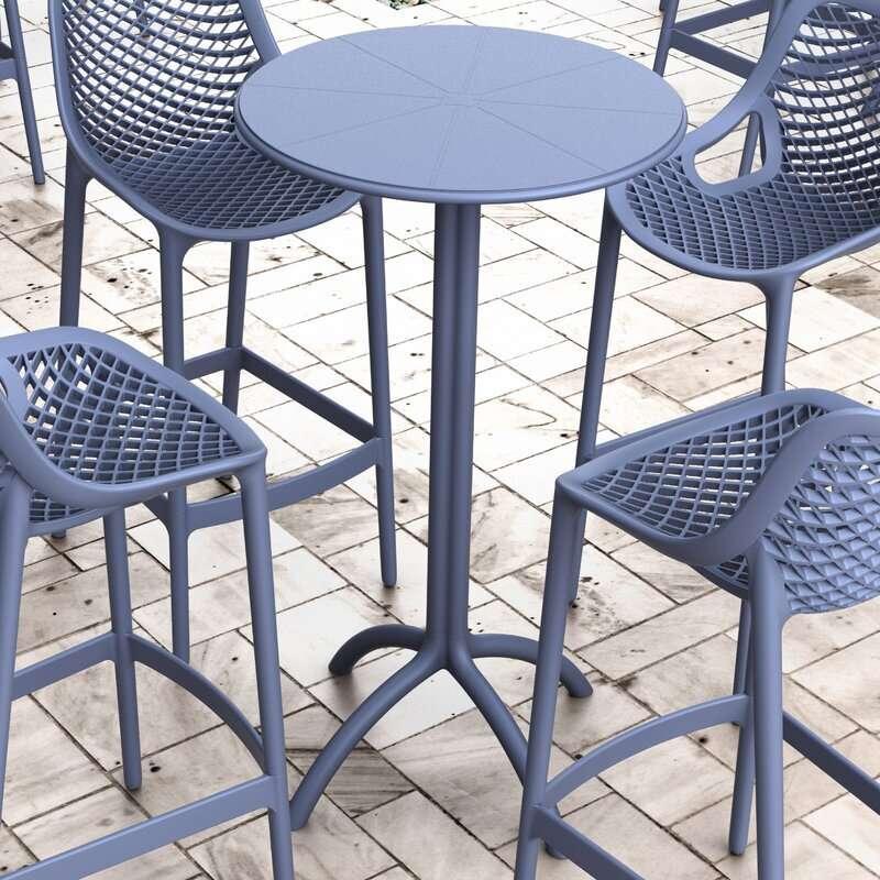 Latitude Run Seitz Plastic Bar Table