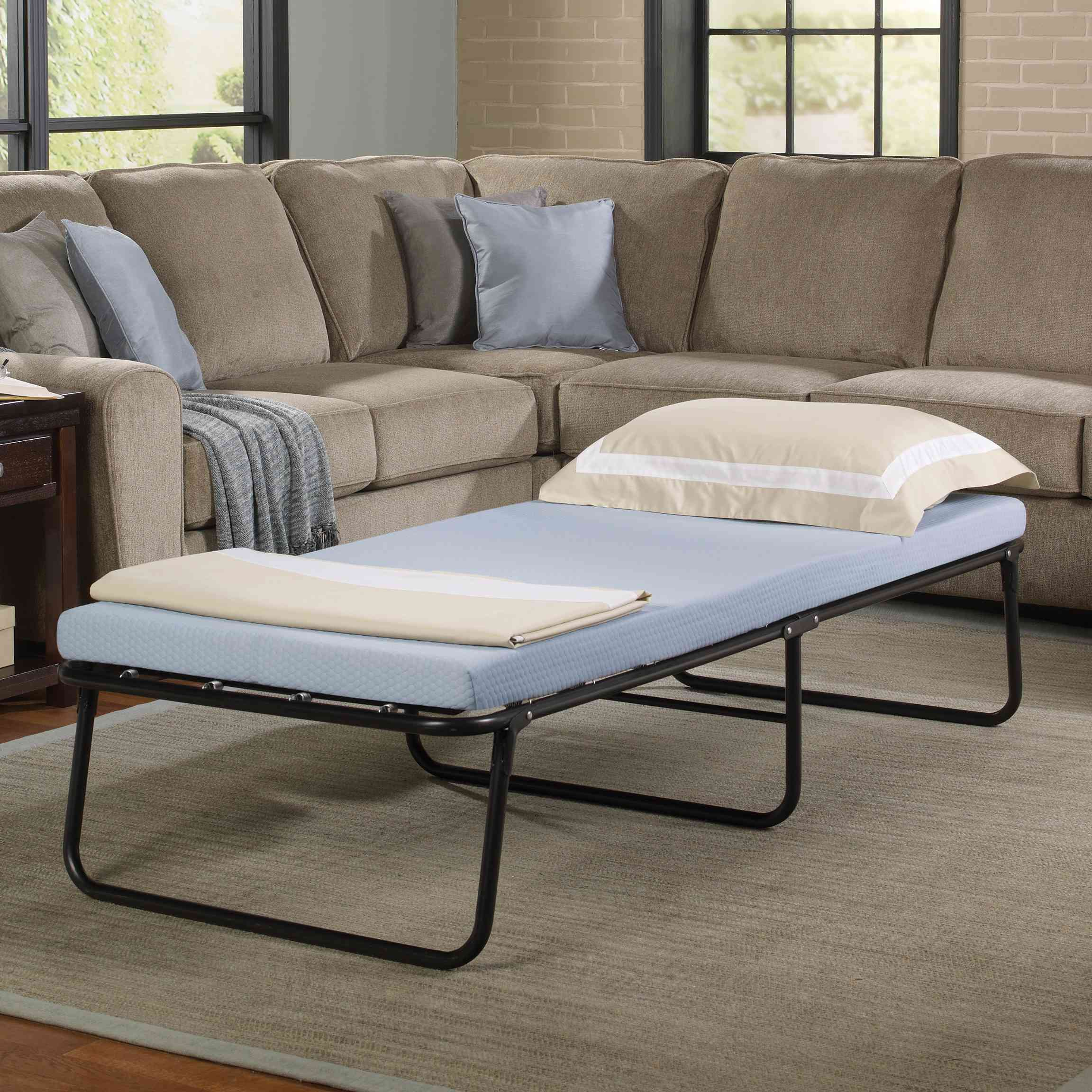Simmons Beautysleep Folding Guest Bed with Memory Foam Mattress, Twin