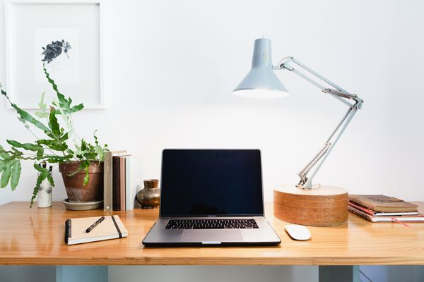 office with lighting