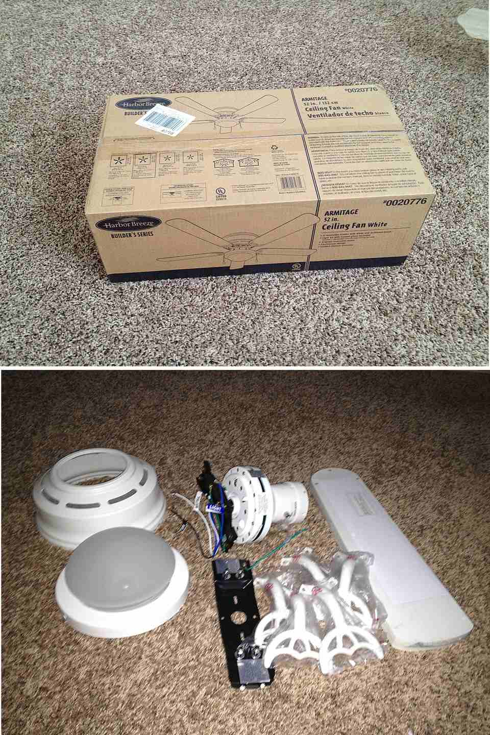 How to easily install a ceiling fan ceiling fan packaging mozeypictures Image collections