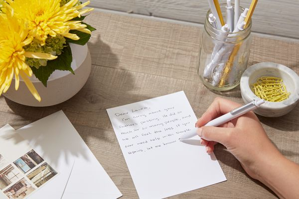 writing a sympathy letter
