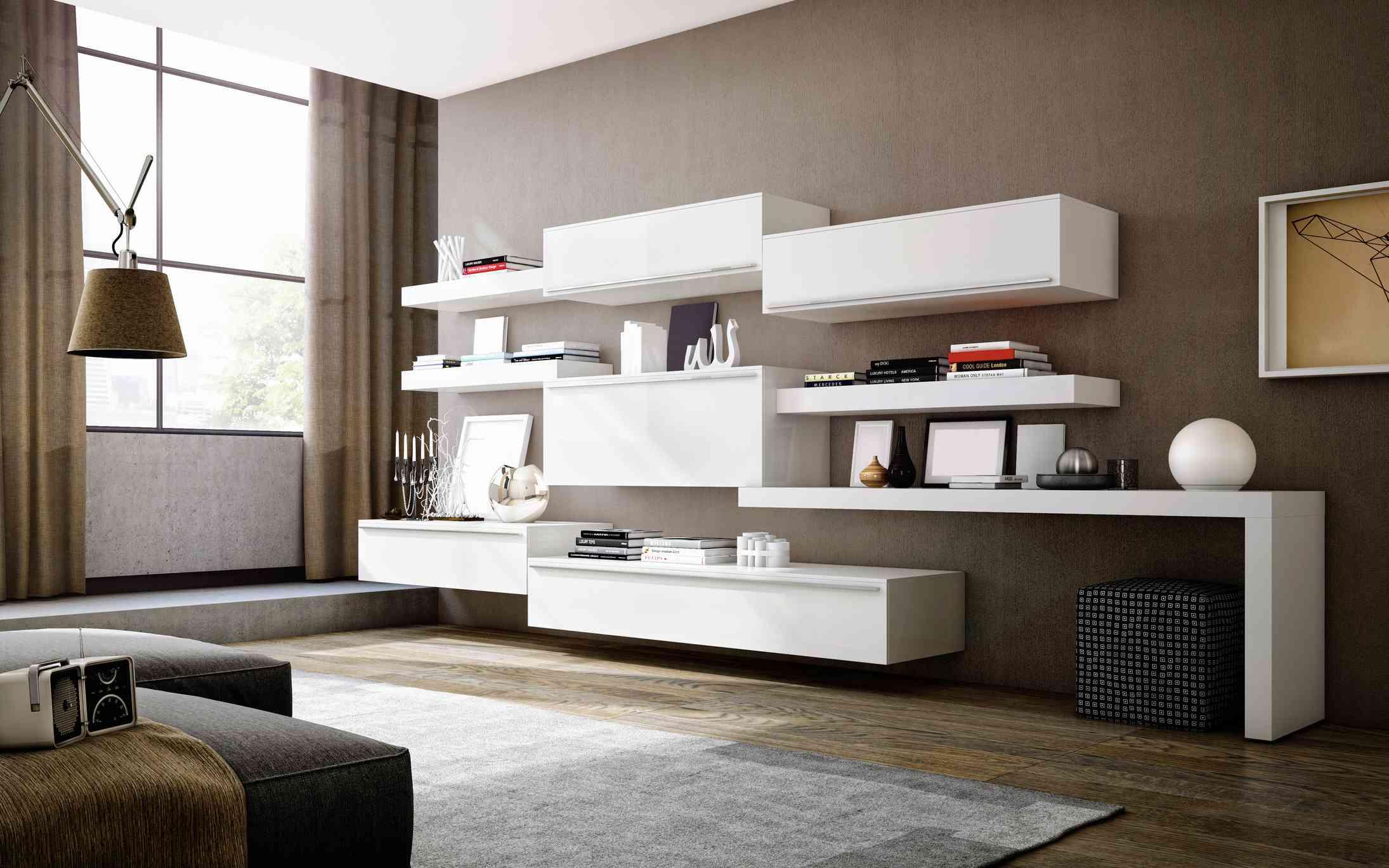 An ultra-modern living room