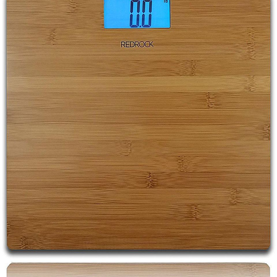 Modern Bamboo Weighing Body Scale 2016 Product 400 Pounds Wood Decor for Bath, Kitchen and