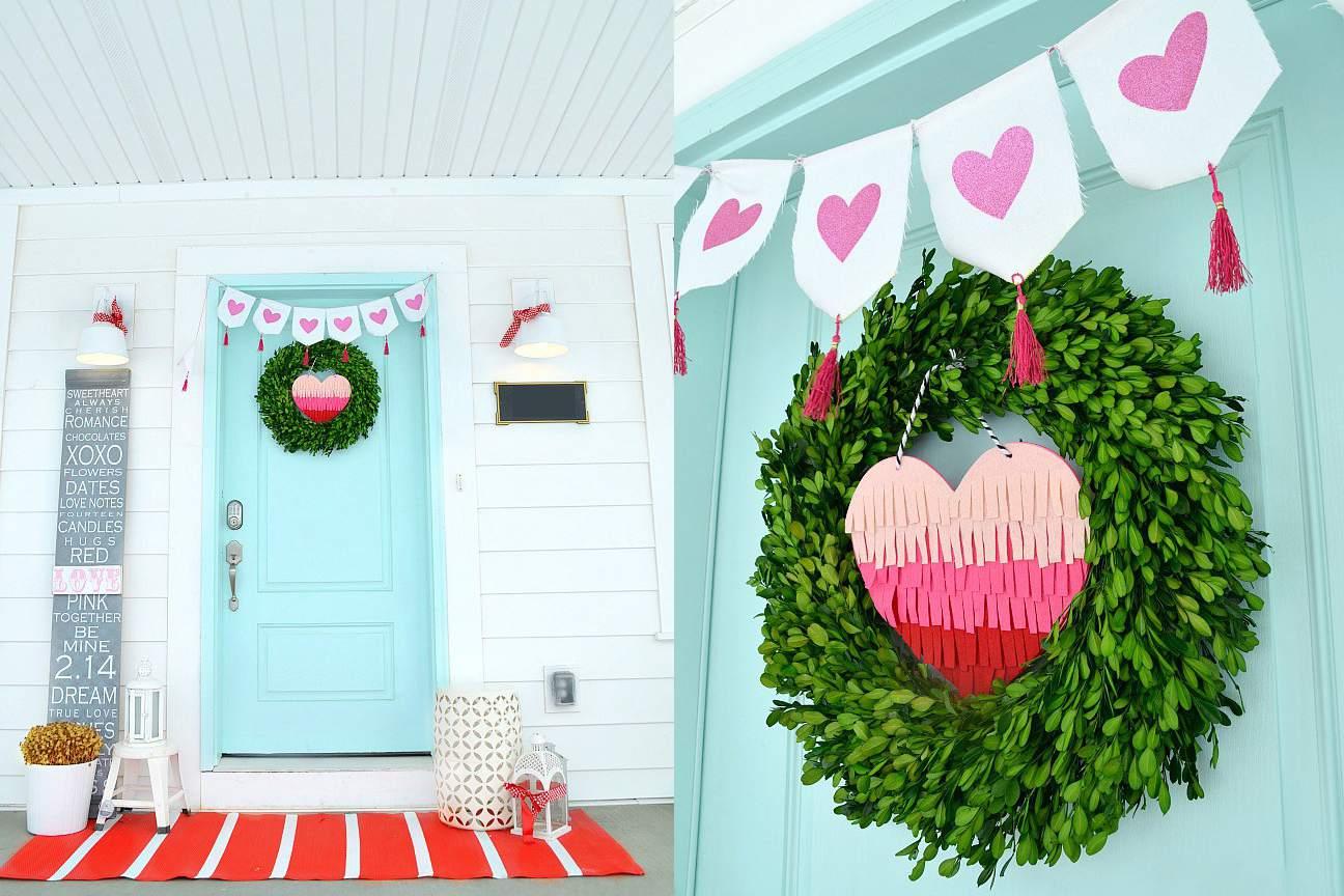 Valentine's Day Winter Porch