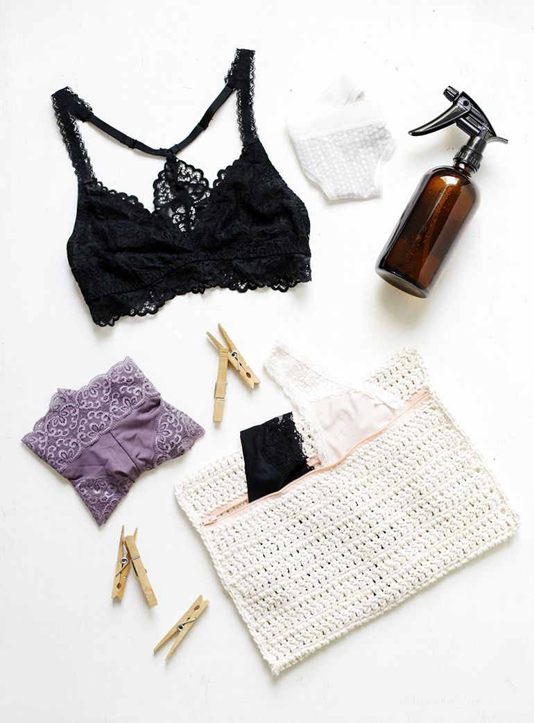 DIY Crocheted Laundry Delicates Bag