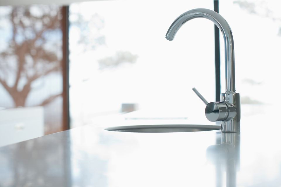 Kitchen faucet in a modern home.