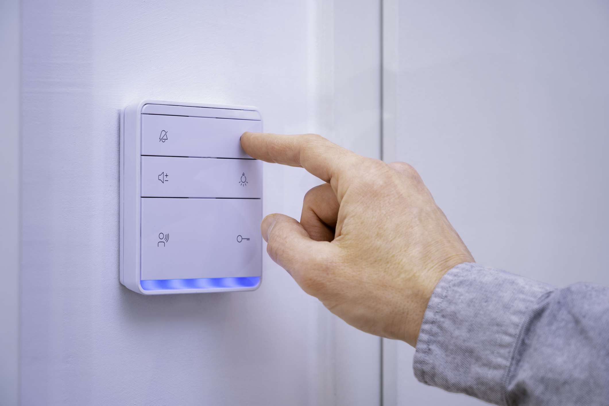 smart switch on wall