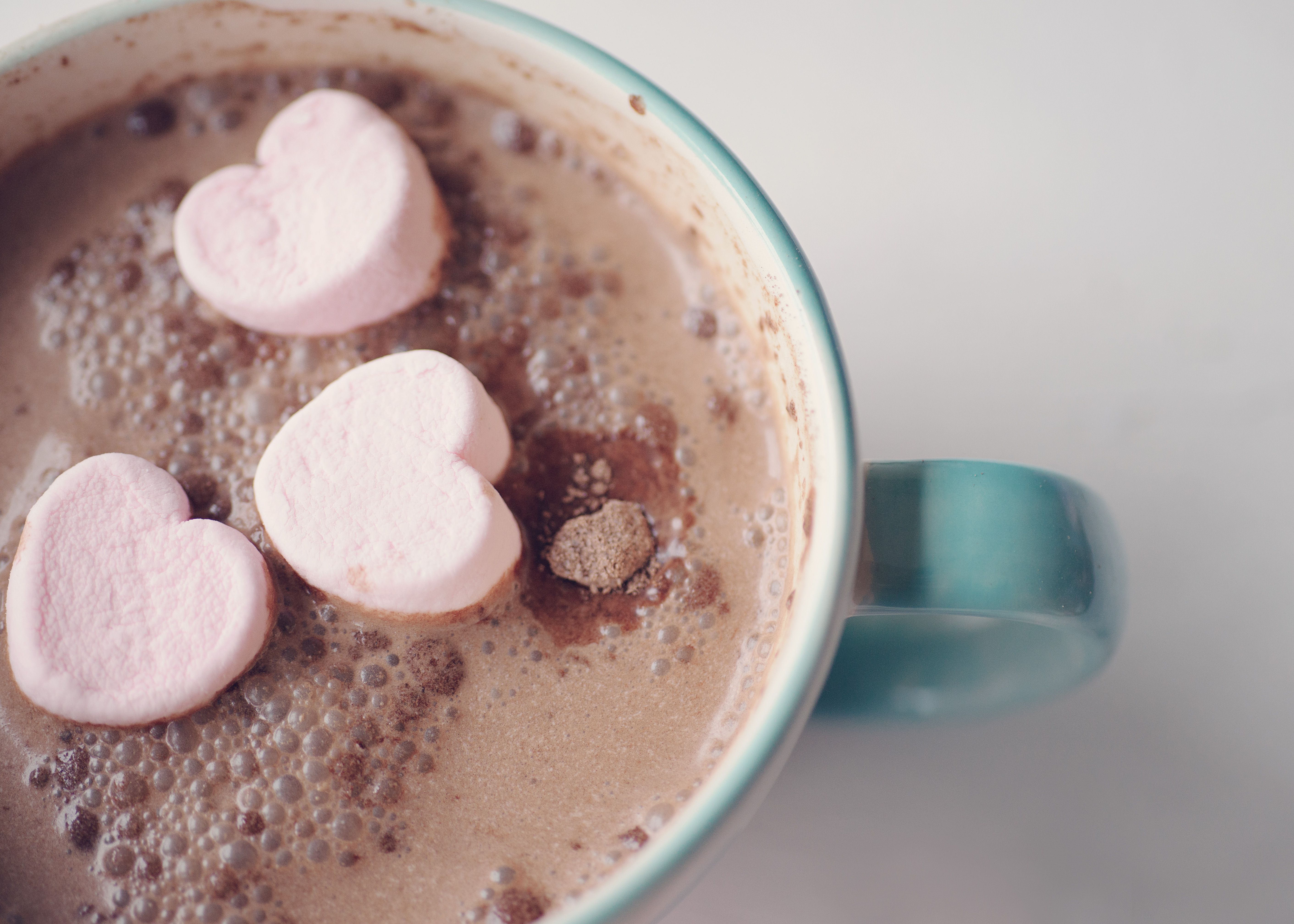 Hot cup of cocoa drink