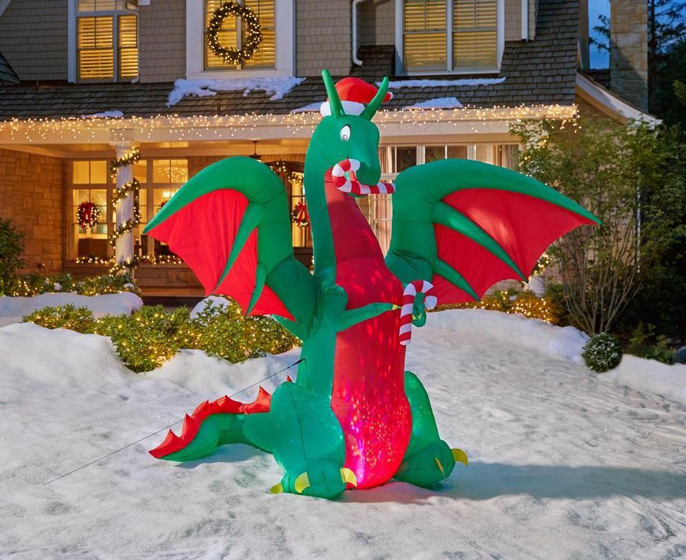 Animated Inflatable Kaleidoscope Dragon