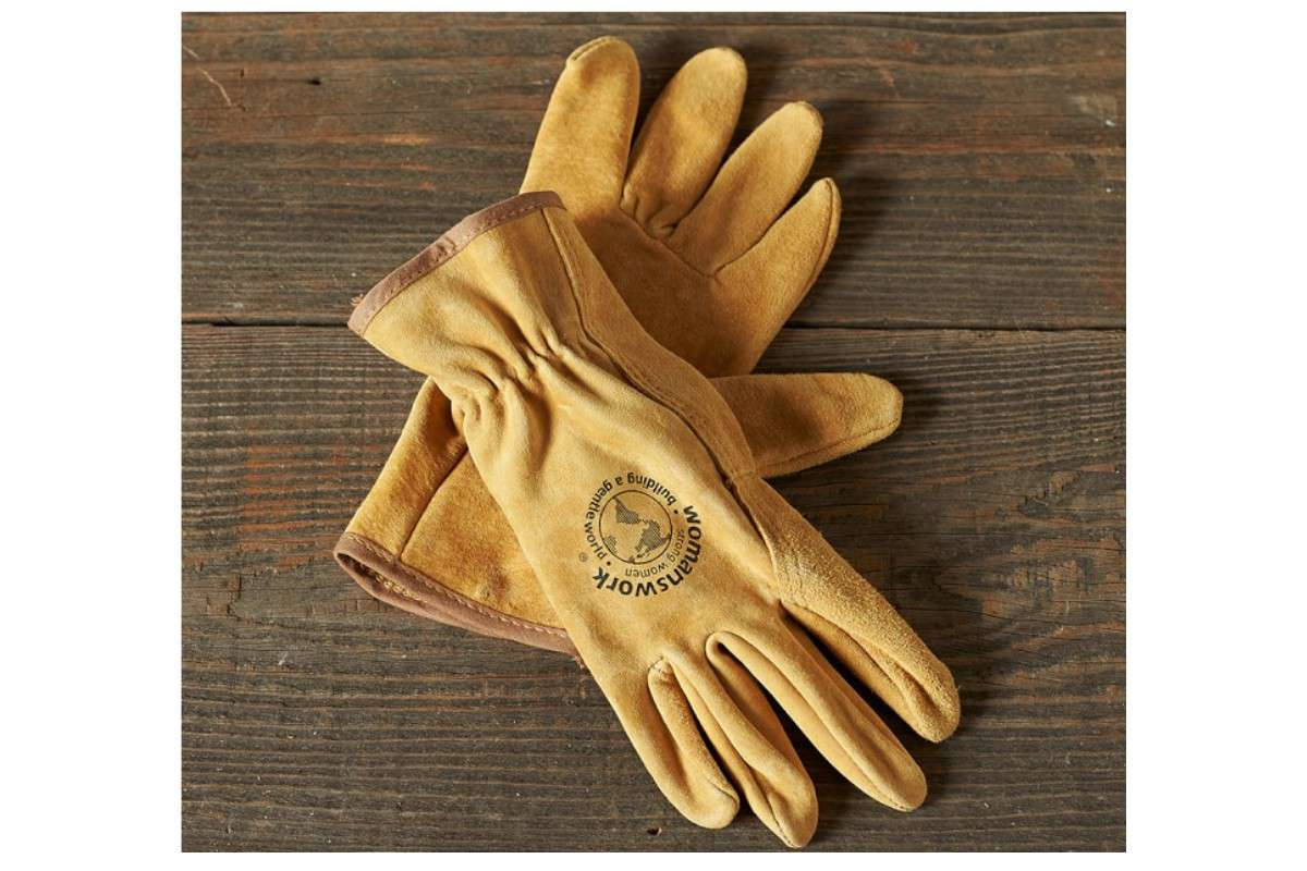 Williams Sonoma leather gardening work gloves