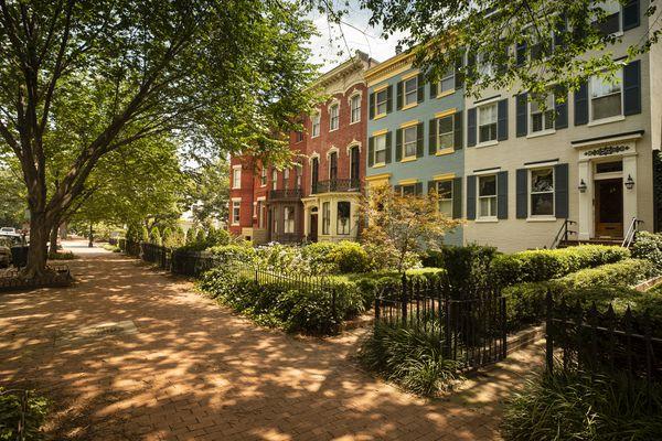 Capitol Hill historic community in Washington DC USA