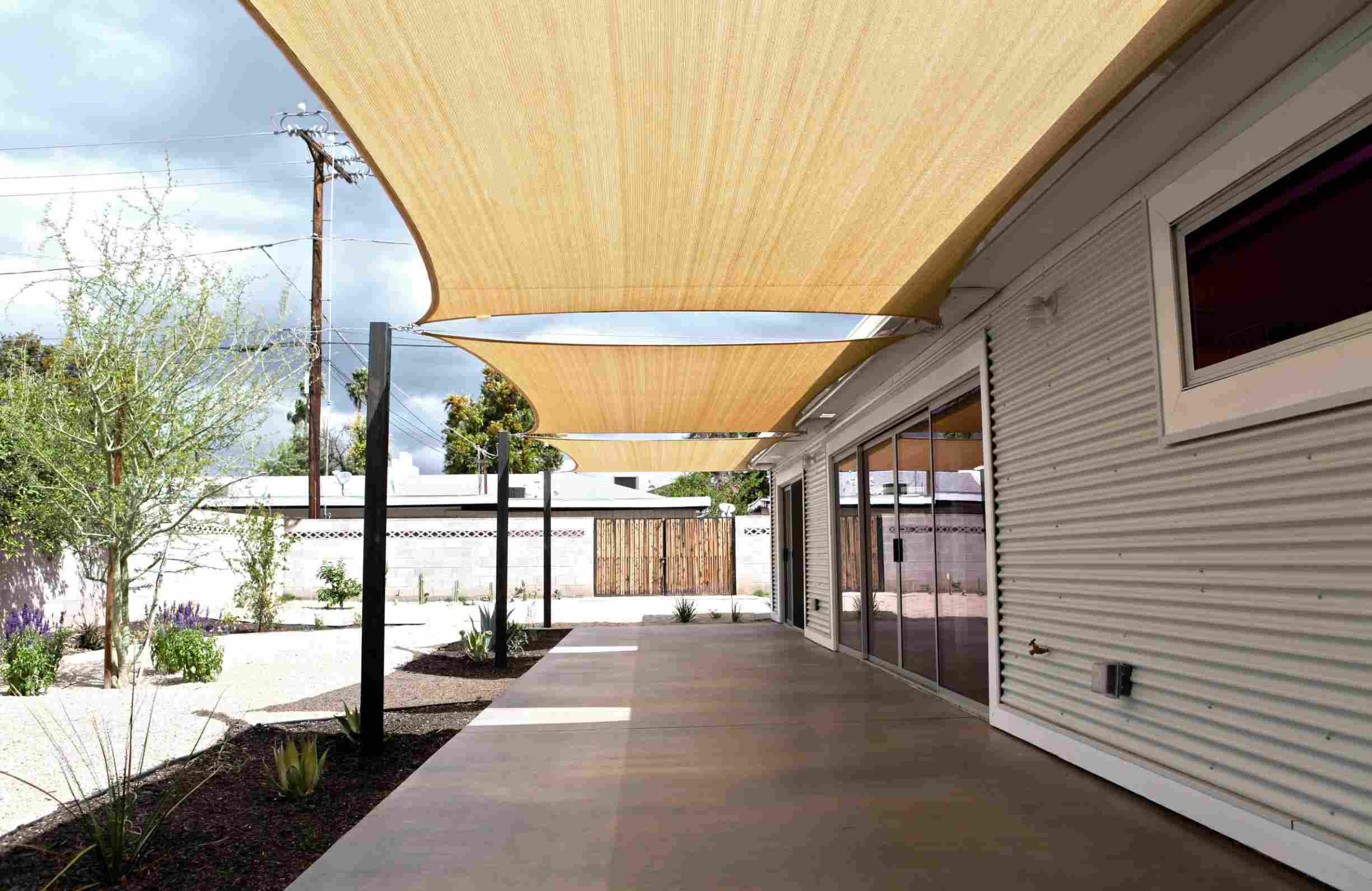 covered patio sail roof