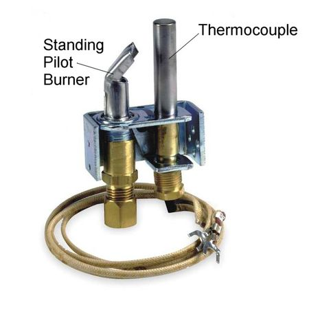 a pilot light and thermocouple assembly
