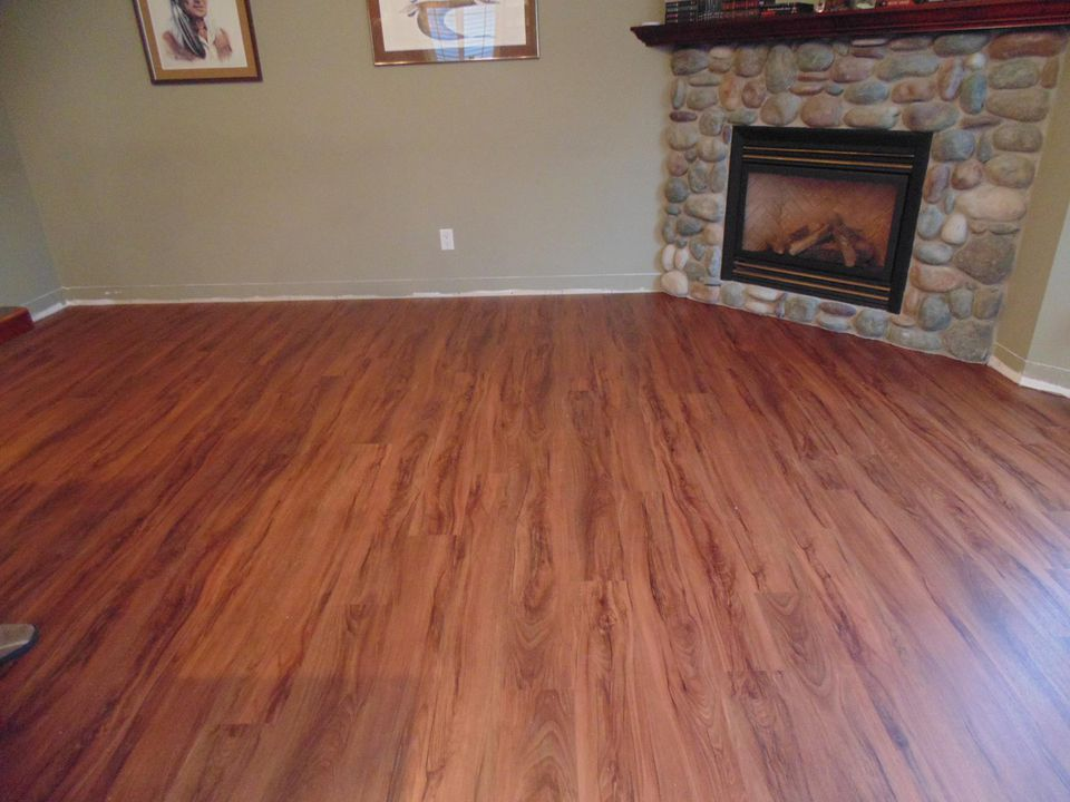 allure flooring in great room
