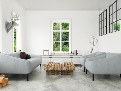 Modern Living room with sofa and armchairs