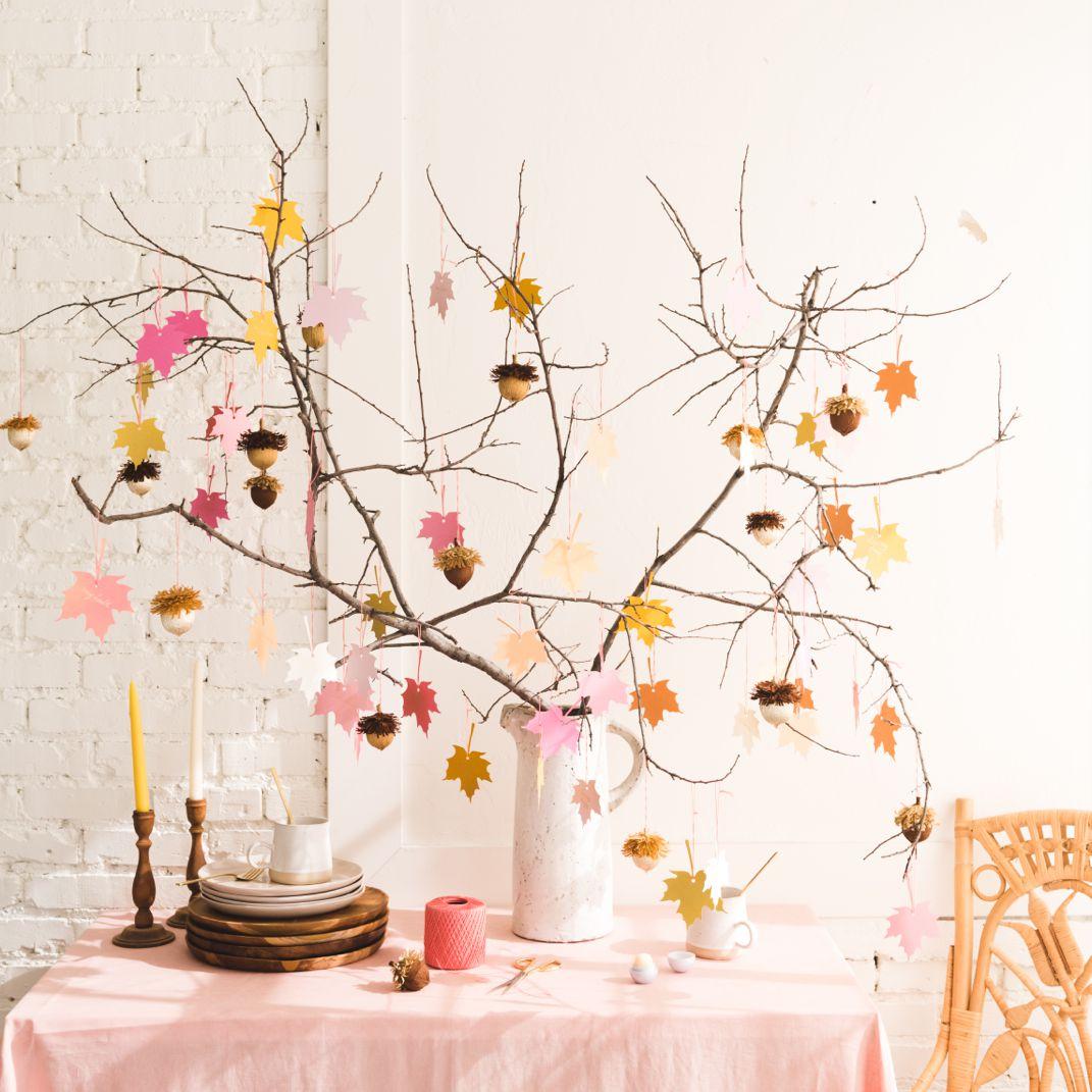Gratitude tree for Thanksgiving.