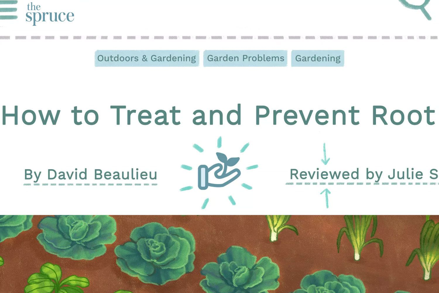 Close up of gardening page illustration