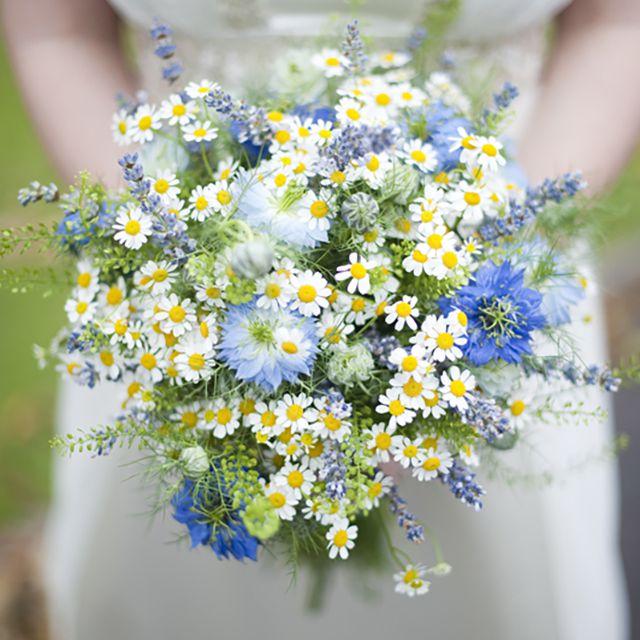 Feverfew Summer Wedding Bouquet