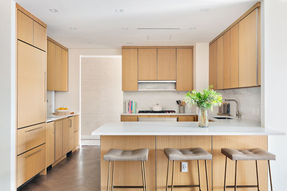all wood kitchen