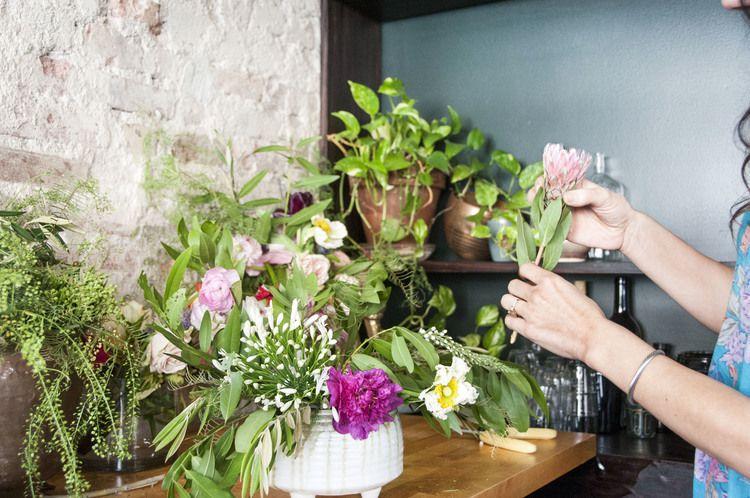 Blooms in a vessel
