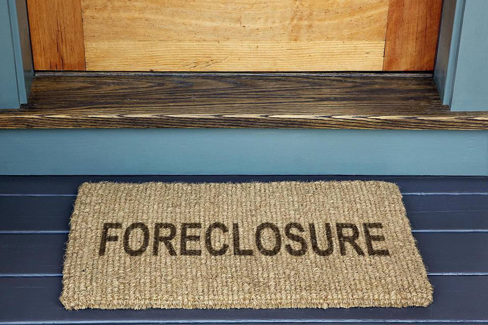 Foreclosure on Door Mat